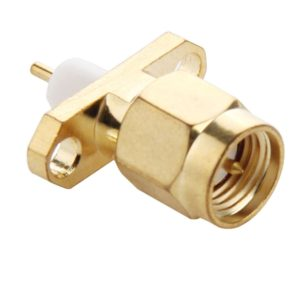 10 PCS Gold Plated SMA Male 2 Holes Panel Mount Short Dielectric Solder Connector Adapter