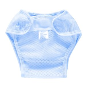 Summer Slim Breathable Waterproof Adjustable Baby Mesh Cloth Diaper, Size:L(Blue)