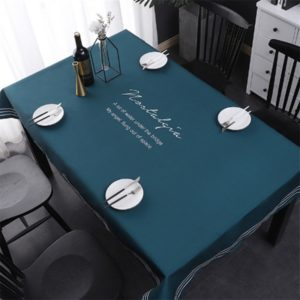Simple Decorative Linen Tablecloth Waterproof Oilproof Rectangular Dining Table Cloth, Size:85x85cm(Angel)