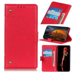 Copper Buckle Retro Crazy Horse Texture Horizontal Flip Leather Case for Huawei Honor 20, with Holder & Card Slots & Wallet (Red)
