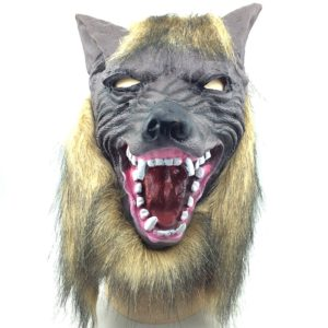 Halloween Mask Latex Wolf Head Cap Halloween Festival Party Fancy Masquerade Masks