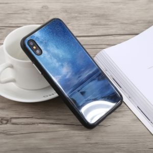 Simple Style Shockproof Glass Protective Case for iPhone X