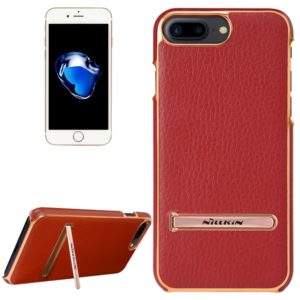 NILLKIN M-JARL Series Case for iPhone 8 Plus & 7 Plus Business Style Litchi Texture Leather Surface PC Protective Case Back Cover with Metal Holder(Red) (NILLKIN)
