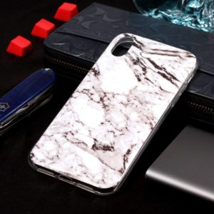 Marble Pattern Soft TPU Case For iPhone XS Max (White)