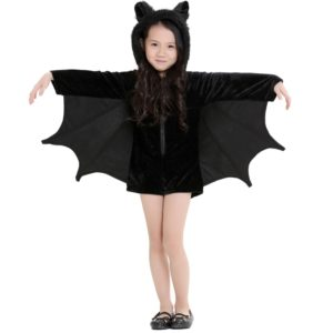 Halloween Costume Children and Women Bat Vampire Clothing Stage Performance Cosplay Clothing, Size:S, Bust: 82cm, Clothes Long: 62cm, Suggested Height:120-135cm
