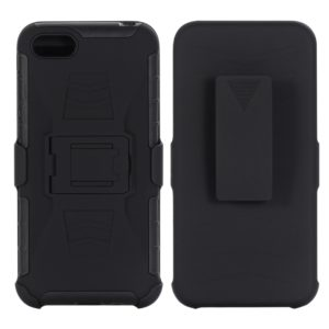 For Huawei Y5 (2018) PC + Silicone Back Clip Sliding Sleeve Protective Case(Black)