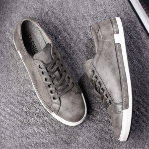 Baroque Shoes Casual PU Leather Sports Shoes for Men, Size:38(Grey)