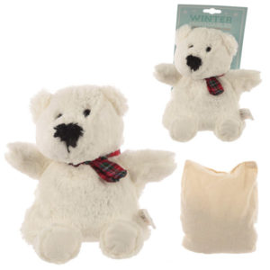 Cute Christmas Polar Bear Snuggables Microwavable Warmer
