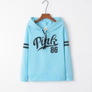 Printed Hooded Loose Casual Sport Sweater (Color:Green Size:L)