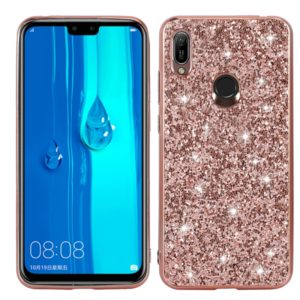 For Huawei Y6 Prime Glittery Powder Shockproof TPU Case(Rose Rold)