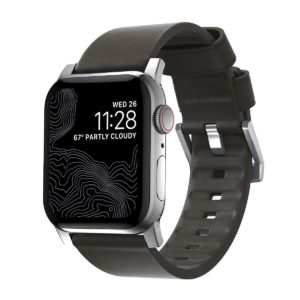 Nomad Waterproof Δερμάτινο ACTIVE Strap για Apple Watch 1,2,3,4 - 42mm-44mm - ΚΑΦΕ ΑΣΗΜΙ - NM1A4MSMW0
