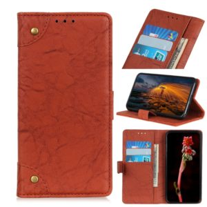 Copper Buckle Retro Crazy Horse Texture Horizontal Flip Leather Case for Huawei Y6(2019), with Holder & Card Slots& Wallet (Brown)