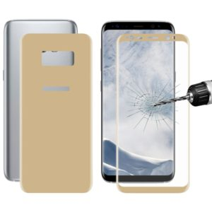 ENKAY Hat-Prince Front + Back for Galaxy S8 0.26mm 9H Surface Hardness 3D Curved Full Screen Bent Tempered Glass Color Screen Protector(Gold) (ENKAY)