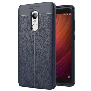 For Xiaomi Redmi Note 4 Litchi Texture TPU Protective Back Cover Case (navy)