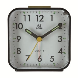 Square Mute Alarm Clock Mini Bedside Office Electronic Clock(Black)