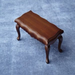 3 PCS 1/12 Toy House Miniature Furniture Wavy Side Wooden Coffee Table(Walnut)