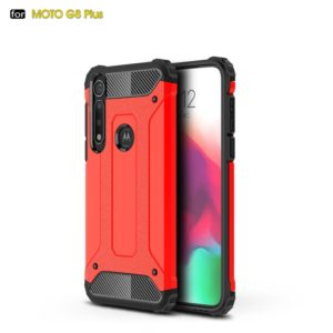 For Moto G8 Plus Magic Armor TPU + PC Combination Case(Red)