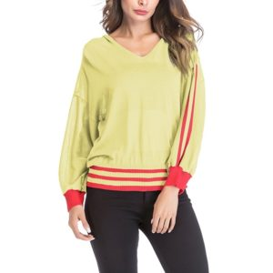 Long-sleeved Loose Hooded Sweater (Color:Yellow Size:M)