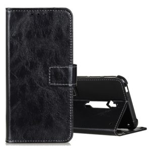 For ZTE Red Magic 3S Retro Crazy Horse Texture Horizontal Flip Leather Case with Holder & Card Slots & Photo Frame & Wallet(Black)