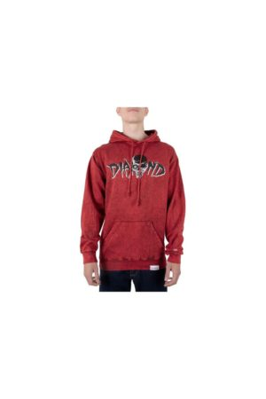 DIAMOND Φούτερ Κουκούλα BURIAL GROUND CRYSTAL HOODIE Red