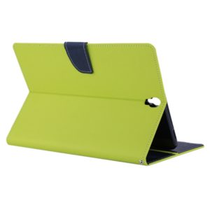 GOOSPERY FANCY DIARY for Galaxy Tab S3 9.7 T825 / T820 Cross Texture Leather Case with Holder & Card slots & Wallet(Green) (GOOSPERY)