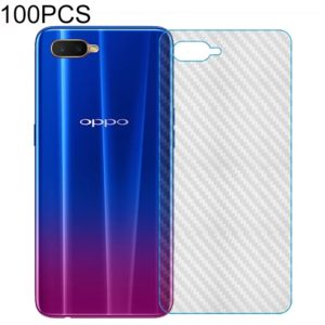 100 PCS Carbon Fiber Material Skin Sticker Back Protective Film For OPPO F7