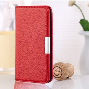 For Xiaomi Redmi 6 Pro Litchi Texture Horizontal Flip Leather Case with Holder & Card Slots(Red)