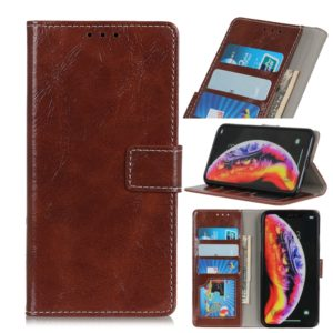 Retro Crazy Horse Texture Horizontal Flip Leather Case for Galaxy S10 5G, with Holder & Card Slots & Photo Frame & Wallet (Brown)