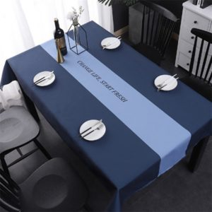 Simple Decorative Linen Tablecloth Waterproof Oilproof Rectangular Dining Table Cloth, Size:100x140cm(New Life)