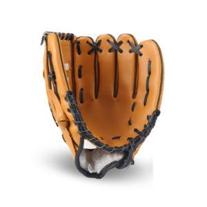 PVC Outdoor Motion Baseball Leather Baseball Pitcher Softball Gloves, Size:12.5 inch(Brown)