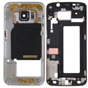 Full Housing Cover (Front Housing LCD Frame Bezel Plate + Back Plate Housing Camera Lens Panel ) for Galaxy S6 Edge / G925(Grey)