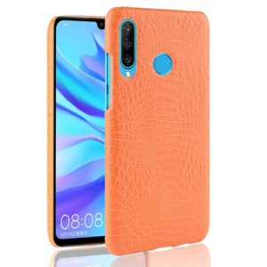 Shockproof Crocodile Texture PC + PU Case for Huawei P Smart+ (2019)(Yellow)