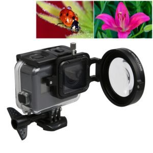 For GoPro HERO5 Sport Action Camera Professional 58mm 16X Macro Lens Close-up Filter with Lens Base & Adapter Ring & Lens Protective Cap & Anti-lost Hand Strap & Cleaning Cloth