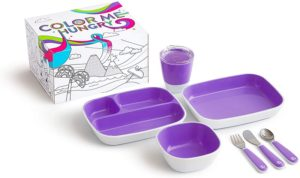 Munchkin Colour Me Hungry Splash Σετ Δώρου Φαγητού 7 τμχ Unicorn Purple (519151)
