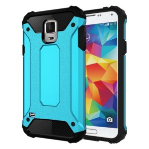 For Galaxy S5 / G900 Tough Armor TPU + PC Combination Case(Blue)