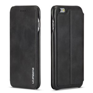 For iPhone 6 Hon Ancient Series Leather Case with Card Slots & Holder & Wallet(Black) (LC.IMEEKE)