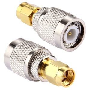 2 PCS TNC Male to SMA Male Connector