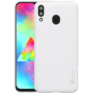 NILLKIN Frosted Concave-convex Texture PC Case for Galaxy M20 (White) (NILLKIN)