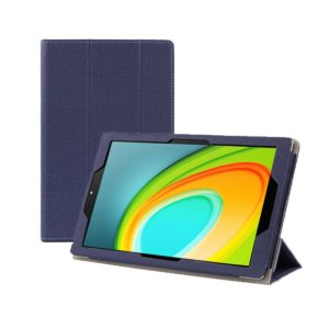 Anti-slip Texture Horizontal Flip Leather Case for CHUWI HI Pad 10.1 Inch with Three-folding Holder(Blue) (CHUWI)