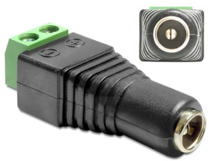 Delock Adapter DC 2.5 x 5.5 mm female to Terminal Block 2 pin (65485)