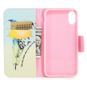 Colored Drawing Pattern Horizontal Flip Leather Case for Huawei Glory6C,with Holder & Card Slots & Wallet(Feather Bird)