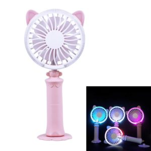 Sunshine Twisted Cat Night USB Fan With 180 Degree Rotation & Wind 2 Speeds (Pink)