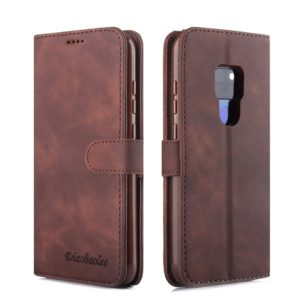 For Huawei Mate 20 Diaobaolee Pure Fresh Texture Horizontal Flip Leather Case, with Holder & Card Slot & Wallet & Photo Frame(Brown) (Diaobaolee)