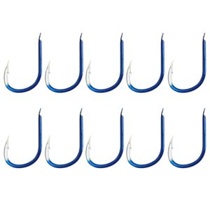 10 PCS 9 # ISE Carbon Steel Fish Barbed Hook Fishing Hooks