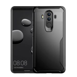 For Huawei Mate 10 Pro Transparent PC + TPU Full Coverage Shockproof Protective Back Case(Black)