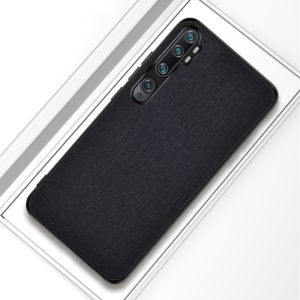 For Xiaomi Mi CC9 Pro Shockproof Cloth Texture PC+ TPU Protective Case(Black)