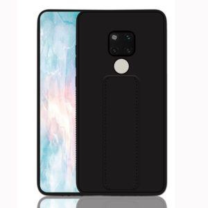 For Huawei Mate 20 Shockproof PC + TPU Protective Case with Wristband & Holder(Black)