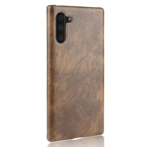 Shockproof Litchi Texture PC + PU Case For Galaxy Note10(Brown)