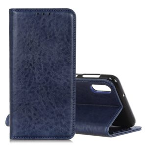 Magnetic Retro Crazy Horse Texture Horizontal Flip Leather Case for Galaxy A50, with Holder & Card Slots & Photo Frame (Blue)