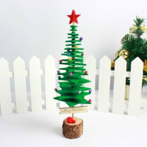 2 PCS Christmas DIY Non-woven Christmas Tree desktop Decoration Supplies(Green)
